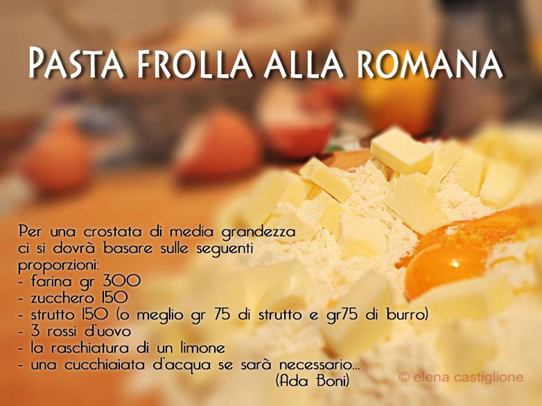 pasta di frolla romana di Ada Boni per la crostata con le visciole