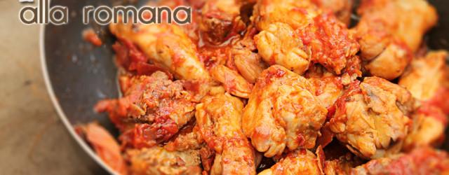 pollo in padella alla romana