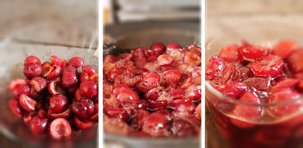 preparazione della composta di ciliegie di Montelibretti