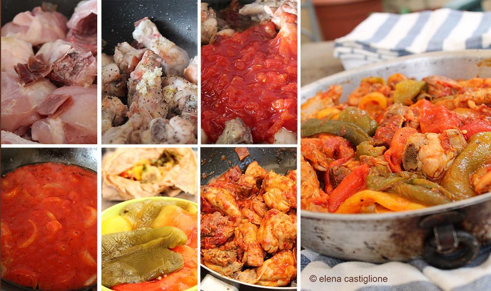 passaggi per fare il pollo coi peperoni alla romana