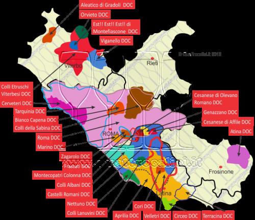 DOC del Lazio per le strade del vino nel Lazio