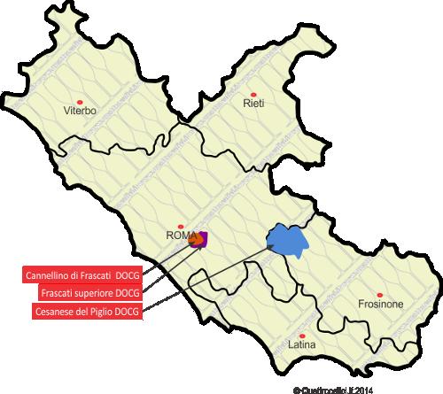 DOCG nel Lazio per le strade del vino nel Lazio