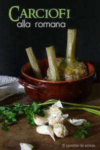 la ricetta dei carciofi alla romana