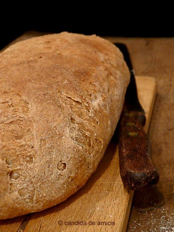 Pane tipo Roma con farina macinata a pietra