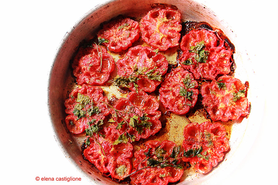 pomodori a mezzo sfornati