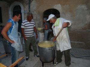 Preparazione della polenta