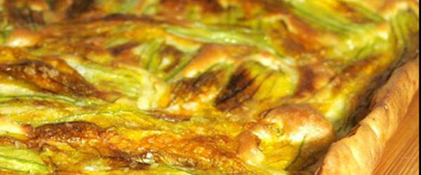 Pizza di pastella e fiori di zucca
