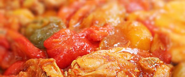 pollo coi peperoni alla romana